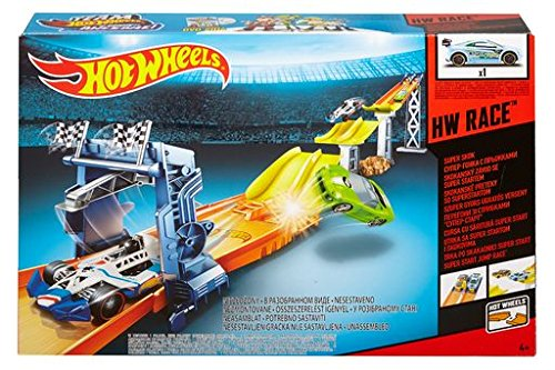 Classic Two Foot Track (Hot Wheels Super Start Jump Race Track Accessory)