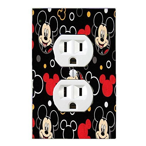 MICKEY MOUSE CHILDREN & NURSERY PLATE LIGHT SWITCH COVER PLATE OR OUTLET bb (OUTLET)