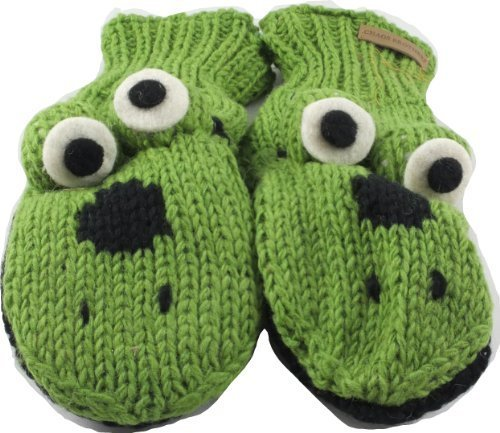 Revive Online Men's Nepal Animal Mittens Wool Hand Made Frog CB AN MT AD - FG