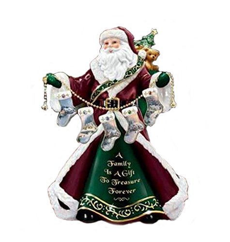 Retired Thomas Kinkade *A Family Is a Gift to Treasure Forever* Family Treasure Santa Figurine