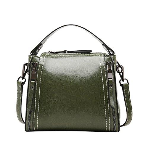 LxWxH Shoulder Green 20X11X18CM Fashion DISSA Women VQ0906 Bag Casual Handbag Leather R7xAnPv