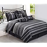 Cozy Beddings Rogers Cal-King Size 7-Piece Jacquard Comforter Set