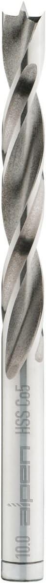 8 Piece Alpen 63300008100 Dowel drills HSS-Co5 PCTMProfi Holz