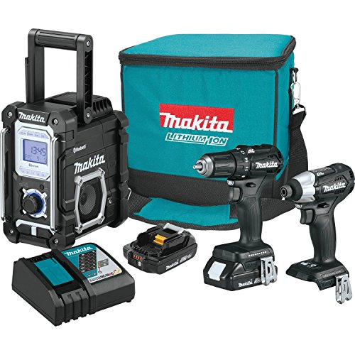 Sub Compact Driver Kit (Makita CX301RB 2.0Ah 18V LXT Lithium-Ion Sub-Compact Brushless Cordless Combo Kit (3 Piece))