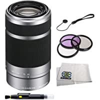 Sony SEL55210 55-210mm f/4.5-6.3 Lens - White Box - SEL55210 - w/ Lens Starter Kit