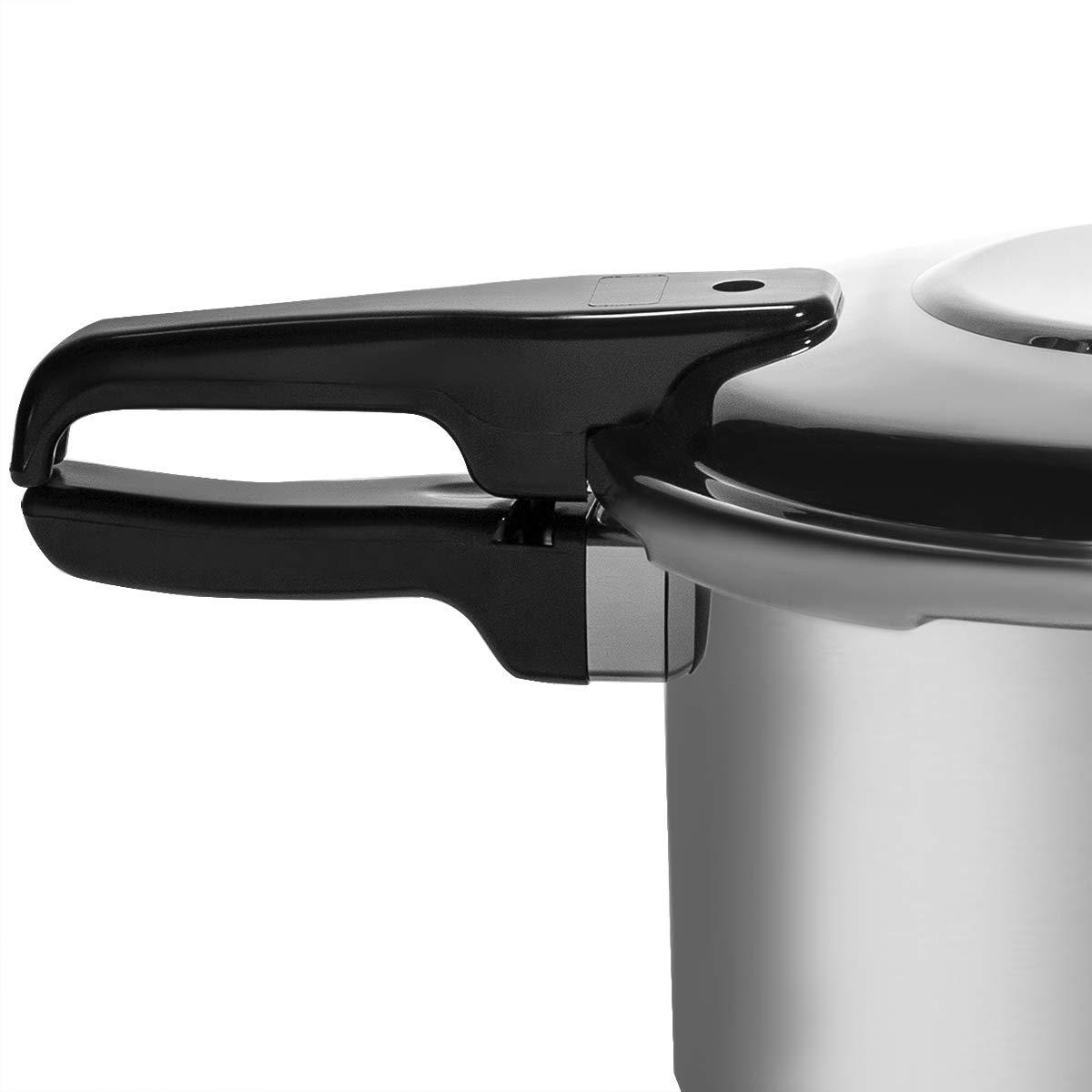 Barton 8-Quart Aluminum Pressure Cooker Stovetop Fast Cooker Pot Pressure Regulator Fast Cooking Steam Release Valve by Barton (Image #3)