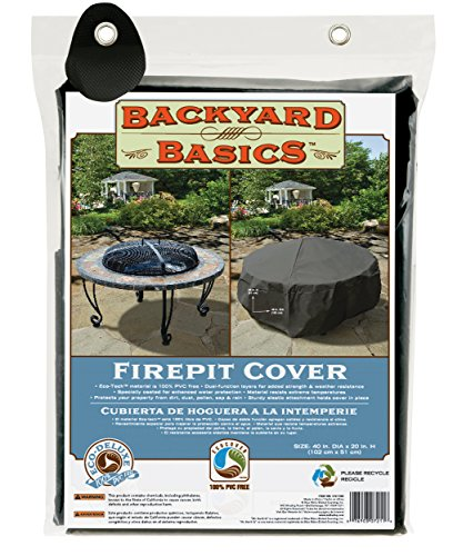Backyard Basics Premium Round Fire Pit Cover, 40″ x 20″