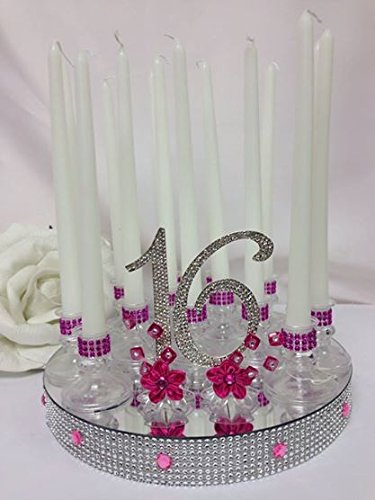 Sweet 16 Candle Cake Topper Cake Topper Centerpiece Decoration by onlinepartycenter