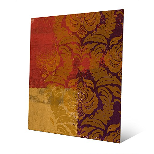 Marigold Damask: Moroccan Graphic Painting Illustration