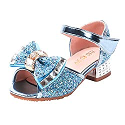 Girl's Crystal Rhinestone Bling Bowknot Sequin Shoes