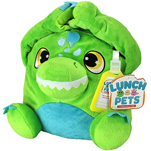 Lunch Pets Amazing, Plush Animal Combination – Munchosaur Style Kids Lunch Box, Travel Size, Green