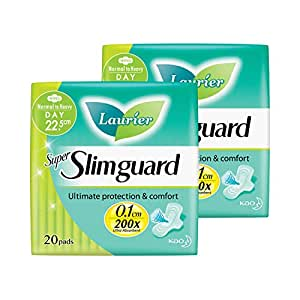 Laurier Super Slimguard Day, 22.5cm, 20ct (Pack of 2)