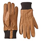 Orvis Men's Deerskin Rib Knit Gloves, Large