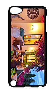 Ipod 5 Case,MOKSHOP Cute Beautiful Terrace Hard Case Protective Shell Cell Phone Cover For Ipod 5 - PC Black