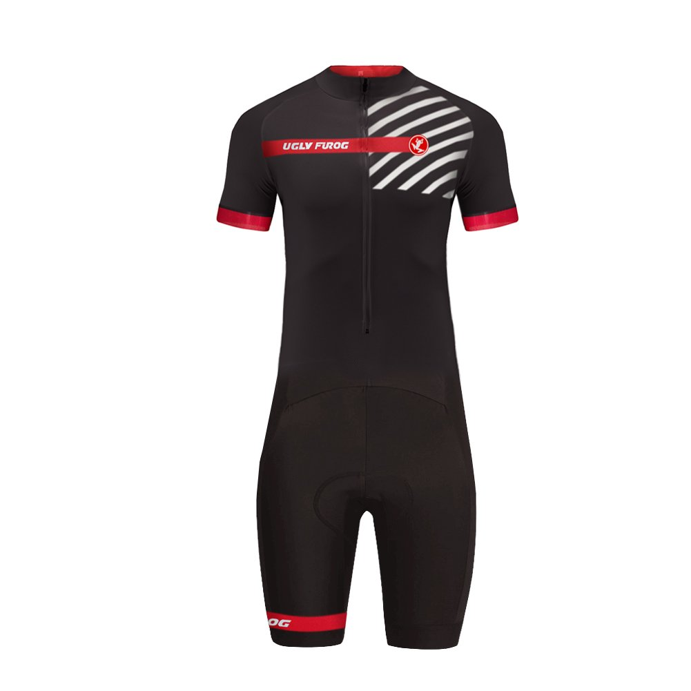 Uglyfrog #07 Designs Country Code Series Mens Short Triathlon Suit/Trisuit Cycling Skinsuits Speedsuit Compressible Breathable & Quick Drying for Biking wear