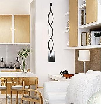 HEYUN Moderne Ideen Einfach L Gang Schlafzimmer Wohnzimmer TV Hintergrund  LED Aluminium Spiegel Lichtwellen
