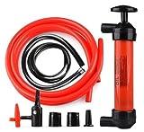 Floratek Universal Multi-Function Fuel Pump Transfer - 200cc Portable Hand Manual Oil Pump Car Tire Water Oil Fuel Change Transfer Gas Liquid Pipe Air Pump Kit