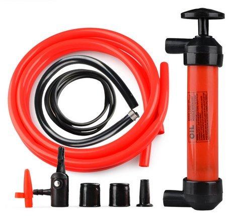 Manual Vent Gas - Floratek Universal Multi-Function Fuel Pump Transfer - 200cc Portable Hand Manual Oil Pump Car Tire Water Oil Fuel Change Transfer Gas Liquid Pipe Air Pump Kit