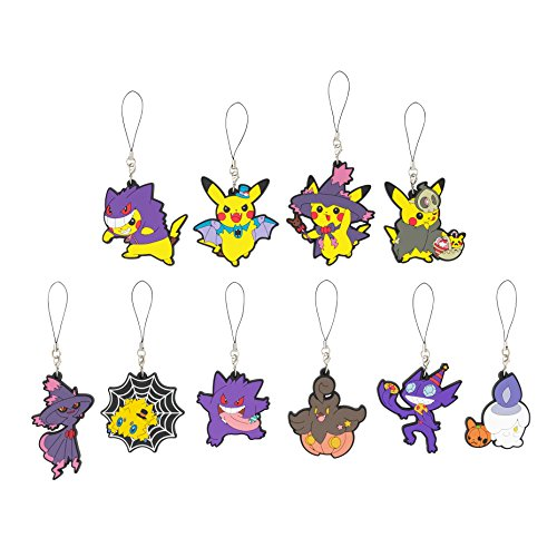 Halloween Super Center (Pokemon Center Original Rubber Strap Collection Halloween Parade 2015 all 10 types set)