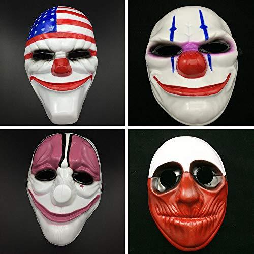 ハロウィン Cosplay 仮面 payday2 テーママスク ゲームキャラクター お面 恐怖 かっこいい コスプレ小道具 パーティー 仮面舞踏会 学園祭の演出 舞台用 四種類選べる (ウルフ)