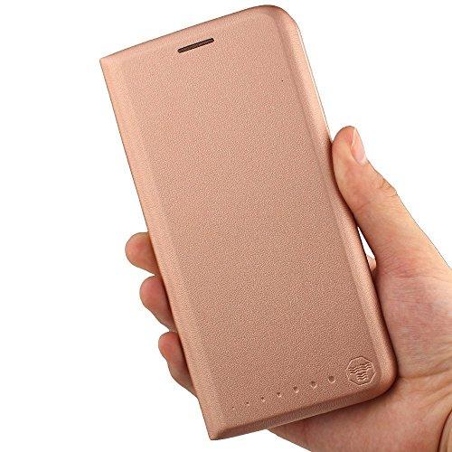 Huawei Honor 7X (5.93) Funda ,GOGME Funda de cuero Funda Flip Funda de cuero Funda protectora con cubierta de teléfono celular para Huawei Honor 7X - azul oro rosa