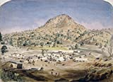 California Butte City C1854 Nbutte City California As It Looked Around 1854 An Established Mining Community Comprising Forty Buildings Showing Miners Seeking Gold In A Trench On The Outskirts Of Town