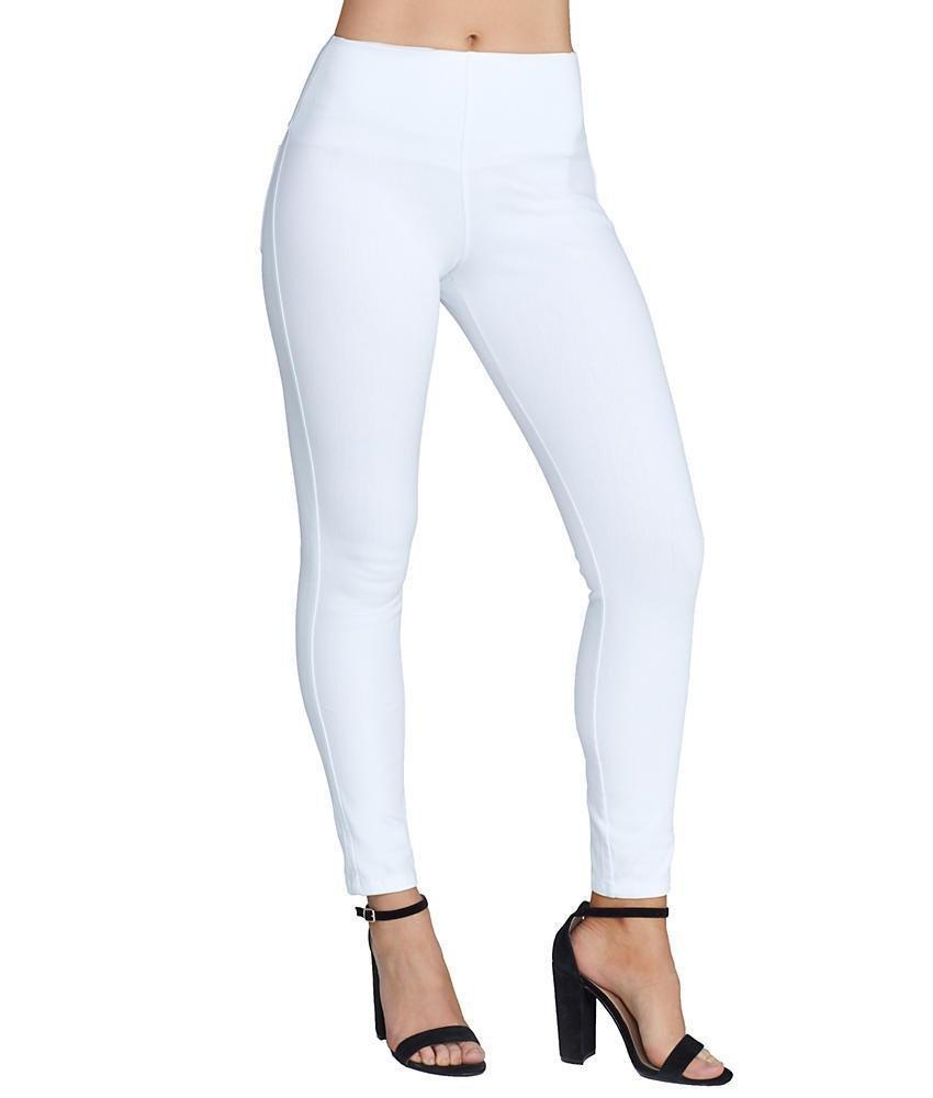 Lyssé Women's toothpick Denim Legging, White, M