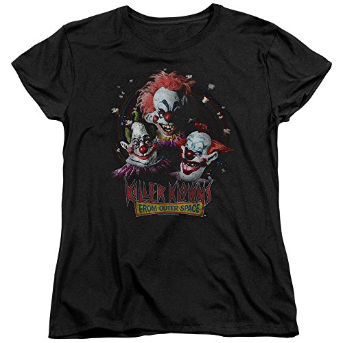 Killer Klowns from Outer Space Horror Film Killer Klowns Women's T-Shirt Tee Black]()