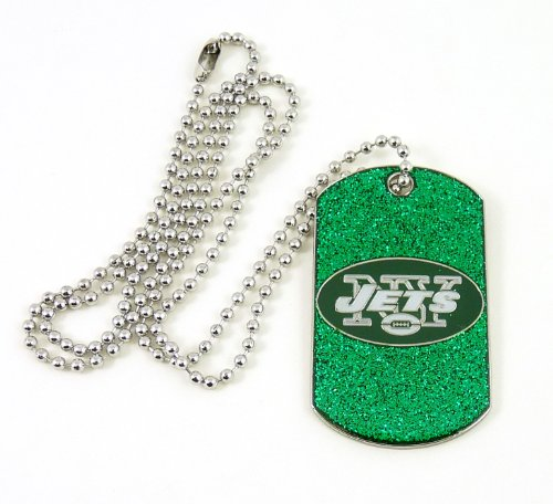 (NFL New York Jets Glitter Dog Tag)