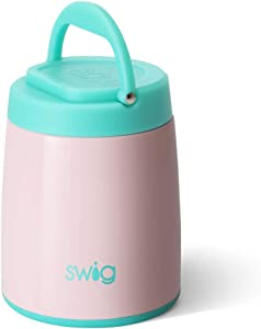 Swig Life 14oz Hot Pot Triple Insulated Food Container, Dishwasher Safe, Double Wall, & Vacuum Sealed Thermos Food Jar for Hot Food and Cold Food in Glossy Blush (Multiple Patterns Available)