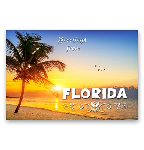 GREETINGS FROM FLORIDA postcard set of 20 identical postcards. FL post cards. Made in USA.