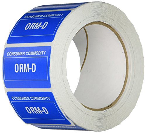 "TapeCase Shipping Packing Labels""ORM D"", Blue - 1000 per Pack (1 Pack) from TapeCase"