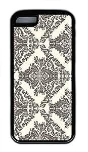 Hot iPhone 5C Customized Unique Print Design Damask Pattern New Fashion Tpu Black iPhone 5C Cases