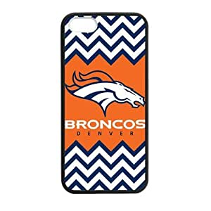 Cool NFL Denver Broncos iPhone 5s TPU Silicone Case Cover Custom Personalized Cool Chevron Team Logo Cover at Big-dream