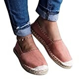 Geckatte Womens Espadrilles Flats Comfortable Casual Fashion Loafer Slip-On Shoes