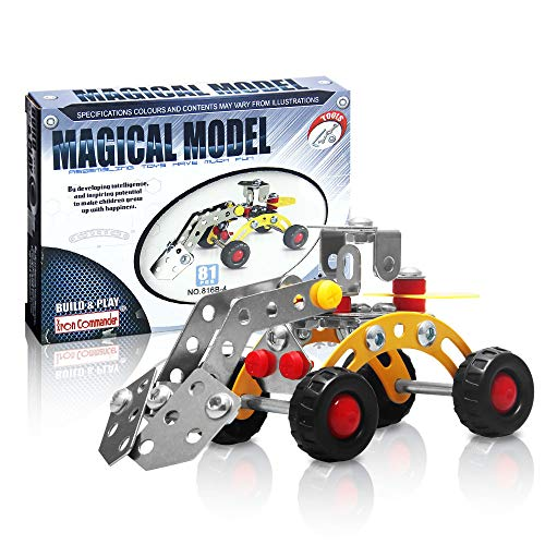 (IRON COMMANDER Mini Construction Toys- Snow Grader Erector Sets for Boys, STEM Education Toy for Ages 8 and Up)