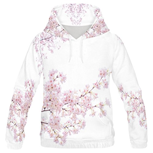 INTERESTPRINT Custom Season Spring Cherry Blossom Teenager's Pullover Hoodies Sweatshirt XXS ()