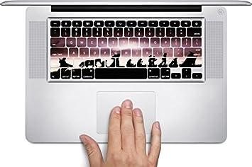 Comunidad del anillo diseño de siluetas de impresión imagen Macbook Teclado adhesivos (para MacBook de 13, 15, Aire/Pro/Retina) por accesorios de moda: ...