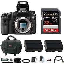 Sony A77II Digital SLR Camera Body w/ 32GB Accessory and Battery Bundle