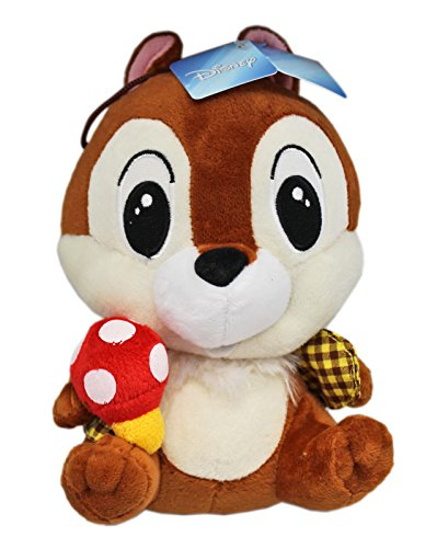 Disney's Chip n Dale Chip With Yellow Flannel Shirt Plush Toy (7in)