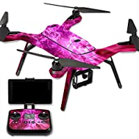 MightySkins Protective Vinyl Skin Decal for 3DR Solo Drone Quadcopter wrap cover sticker skins Red Mystic Flames