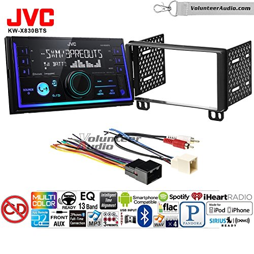 Volunteer Audio JVC KW-X830BTS Double Din Radio Install Kit with Bluetooth SiriusXM Ready Fits 2002-2005 Explorer, 2001-2004 Mustang