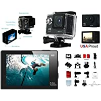 SNAPSITY 1080p Ultra HD 4K WiFi 2.0 Action Camera Black Waterproof Sport Video Camcorder Kit H9 with Accessories