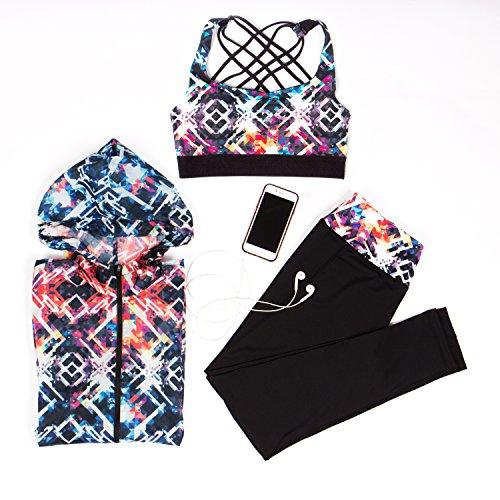 Yoga Shirt Intimuse Multicolore Top Sport 045 Donna Damen mit Polsterung Bunt 5cqaRAqS
