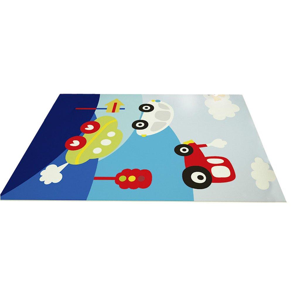 Creative-Area-Teppiche Moderner Bereich Teppich für Kinderzimmer - Nordic Style Border Teppich für Schlafzimmer Wohnzimmer - Kurzer Haufen Designer Carpet Kid Crawl Decke für Jungen und Mädchen