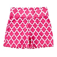 Masala Kids Little Girls' Acti-Play Shorts Jali Ikat, Pink, 2Y
