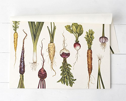 Hester & Cook Paper Placemat, Pad of 30 - Natural Farmer's Market