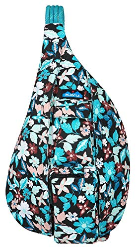 KAVU Rope Bag - Cotton Sling Pack for Hiking, Camping, and Commuting - New Blossom