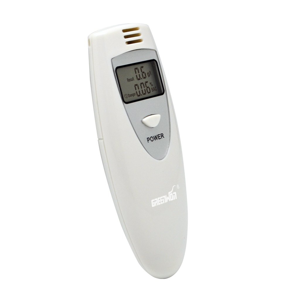 GREENWON Digital Display Professional Breathalyzer, Portable Alcohol Tester, Prevent Drunk Driving (WHITE)
