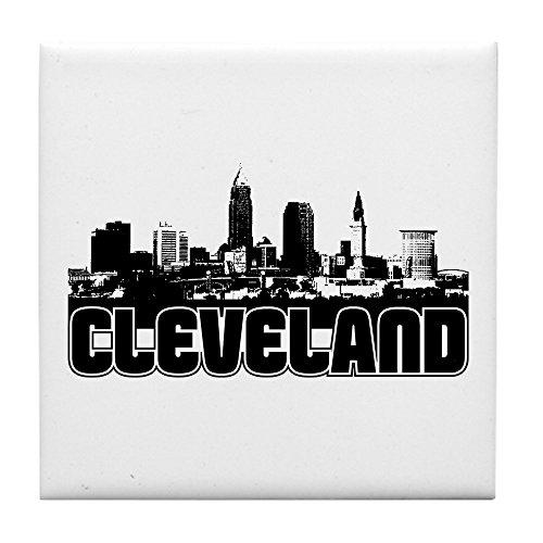 CafePress - Cleveland Skyline - Tile Coaster, Drink Coaster, Small Trivet (Usa Tile Drink Coasters)